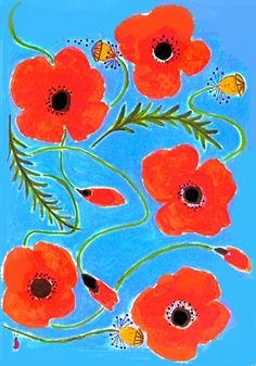 Barbara Perrine Chu-- Poppies