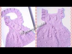Moda Crochet, Crochet Bebe, Crochet Poncho, Baby Knitting Patterns, Baby Patterns, Crochet Patterns, Crochet Baby Clothes, Knitted Baby Blankets, Baby Dress