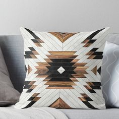 Urban Tribal Pattern 5 - Aztec - Concrete and Wood Throw Pillow Designer Throw Pillows, Decorative Throw Pillows, Aztec Pillows, Aztec Bedding, Aztec Blanket, Aztec Bedroom, Aztec Home Decor, Western Kitchen Decor, Living Room Decor Pillows
