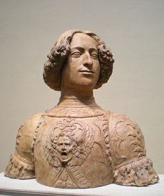 Giuliano de' Medici portrait bust by Verrocchio (1435-1488) ~ Andrea del Verrocchio, born Andrea di Michele di Francesco de' Cioni, was an Italian painter, sculptor, and goldsmith who was master of an important workshop in Florence.
