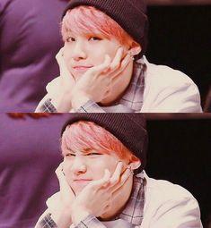 He doesn't like to do aegyo but for us A.R.M.Y.'s he's always acting cute ❤ #Yoongi #Suga #BTS