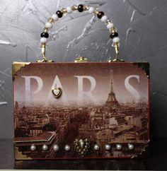 Paris Cigar Box Purse by Reclaimery on Etsy, $30.00