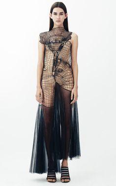 Cobweb Motif And Tulle Long Dress by Christopher Kane - Moda Operandi