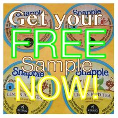 Free Snapple K cup Sampler
