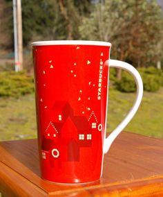 Starbucks Coffee Company Tall Red Christmas Holiday Houses Neighborhood 2013 Mug    eBay