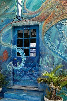 wall mural of ocean