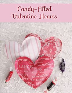 Candy-Filled Paper Valentine Heart Treats - Woo! Jr. Kids Activities