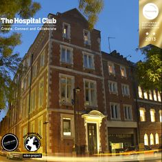 The Hospital Club - provides a range of services to its members, including a music studio, gallery, screening room, and a high-definition TV studio,  The club has all of the accoutrements of a live-broadcast studio, enabling creatives to take their ideas from inception, to storyboard, to live-stream. Ultimately, the club aims to facilitate connections between members of the creative community and inspire content and collaboration.