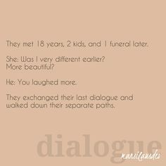 The last dialogue  #TTT140 #microfiction #amwriting