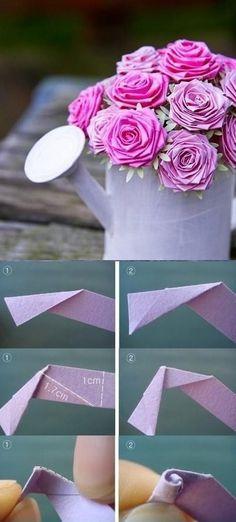 Rosas de papel | paper flowers DIY by arioco
