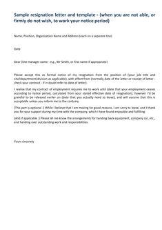 Professional Resignation Letter Sample With Notice Period   How To Write A  Professional Resignation Letter Sample