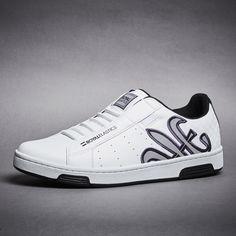 1b8c9947 Men's Hydra White Black Gray Microfiber Sneakers 02273-089 #fashion  #sneakers #shoes
