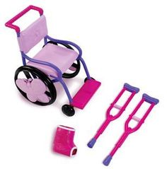 Wheelchair Playset for Dolls My Life Doll Accessories, American Girl Accessories, Baby Alive Dolls, Baby Dolls, Baby Girl Toys, Doll Wheelchair, My Life Doll Stuff, My American Girl Doll, American Girl Crafts