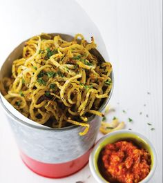 With a delightful crunch in every bite, these jicama shoestring fries will amaze all your guests with its not-fried, lower-carb take on traditional fries.