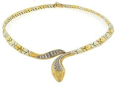 Uno A Erre Diamond Snake Necklace in 18K #503014