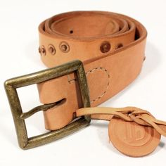 theLOWDOWNondenim 'MULTI RIVET' Leather Belt Natural : SUNSETSTAR Edwin Jeans, Universal Works, Red Wing Shoes, Japanese Denim, Workout Accessories, Vintage Inspired Dresses, Leather Belts, Austria, Natural