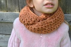 Rusty Orange Skinny Cowl Scarf Burnt Orange Crochet by FarahsAttic, $12.00