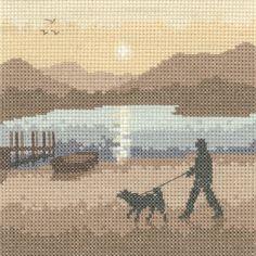 Sunset Stroll - Sepia Cross Stitch kit by Heritage Crafts - £14.99