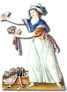 vendeuse de cocarde - gouache de Lesueur