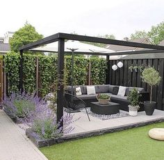 You can make your home a whole lot more special with backyard patio designs. You are able to turn your backyard right into a state like your dreams. You will not have any difficulty now with backyard patio ideas. Backyard Seating, Backyard Patio Designs, Small Backyard Landscaping, Backyard Pergola, Pergola Designs, Pergola Kits, Outdoor Pergola, Pergola Roof, Landscaping Ideas