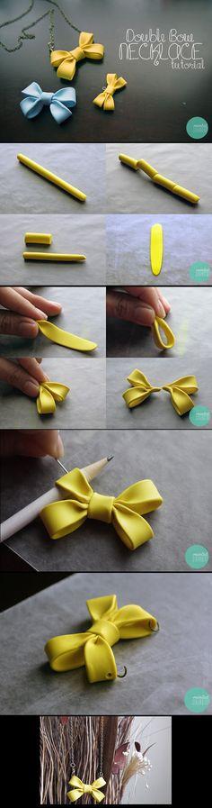 Ce tuto vous permettra de réaliser un joli collier orné d'un noeud. Vous pouvez réaliser ce tuto dans la couleur de votre choix.