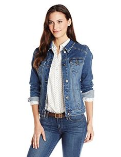 Wrangler Authentics Women's Denim Jacket, Weathered, Large