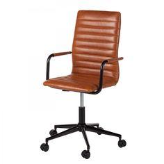 Bürostuhl Waledas - Kunstleder / Metall - Vintage Braun Office 2020, Chair Design, Home Furniture, Home Goods, New Homes, Metal, Vintage, Home Decor, Groot