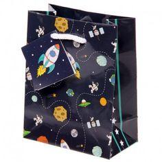 Sac à cadeau - Fusées et planètes - Petit