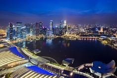 View from Skypark, Marina Bay Sands, Singapore