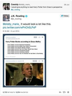 When the Queen herself referenced Tumblr to show Draco's perspective.