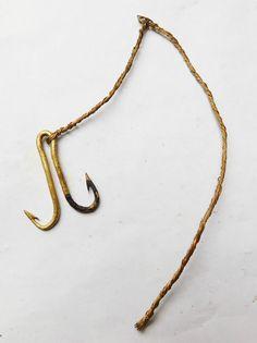 NO RESERVE c1550 TUDOR Brass Fishing Fish Hook Vintage Antique  | eBay