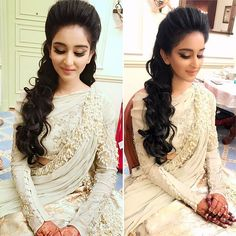 Mehal dressed for her Sangeet night. Outfit by Makeup/ hair Bride Makeup, Glitter Eyeshadow, Summer Makeup, Indian Weddings, Wedding Hairstyles, Wedding Gowns, Photo And Video, Night, Outfits