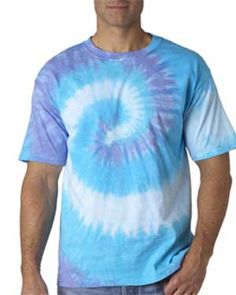 This mesmerizing t-shirt is a popular statement piece. It's swirled pattern is stylish and the array of color options available makes expression and individuality possible.