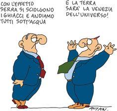 Le dissacranti vignette di Altan sull'ambiente per il G7 di Bologna (FOTO)