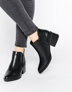 Buy Call It Spring Adraun Black Pointed Block Heel Ankle Boots at ASOS. Get the latest trends with ASOS now. Block Heel Ankle Boots, Black Ankle Boots, Ankle Booties, Bootie Boots, Shoe Boots, Shoes Heels, Leather Booties, Fancy Shoes, Pretty Shoes