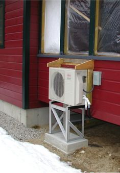 Air-to-air heat pumps are getting more popular as a primary heat source in colder climates. Here's how to get the most from your system. Air Conditioner Cover Indoor, Mini Split Ac, Air Conditioning Installation, Heat Pump, Heating And Cooling, Home Projects, Home Improvement, Diy, Home Furniture