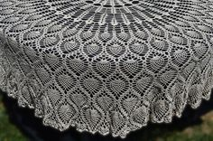 Round Crochet Tablecloth Vintage Style Crochet by FeelnCrafty