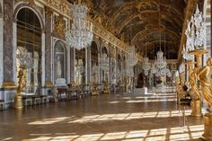 Hall of Mirrors, Palace of Versailles, France. The location where the Treaty of Versailles was signed. (The Treaty of Versailles marked the end of WWI in Visit Versailles, Chateau Versailles, Palace Of Versailles, Versailles Hall Of Mirrors, Jules Hardouin Mansart, Google Street View, Luís Xiv, Architecture Baroque, Versailles