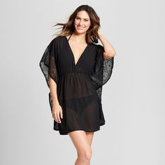 fc23260cce Women's Crochet Chiffon Cover Up - Xhilaration Swim Cover Up Dress, Chiffon  Cover Up,