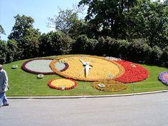 Floral clock in Geneva, Switzerland