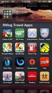 Our iPhone & iPad App Essentials for RV Travel - great apps, information & technology for on the road...... Happy Campers, Rv Campers, Camper Hacks, Ipad App, Motorhome, Rv Apps, Camping Essentials, Camping Ideas, Camping Stuff
