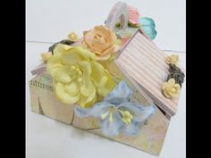 Off the page:DIY:Altered picnic basket shadow box by SaCrafters