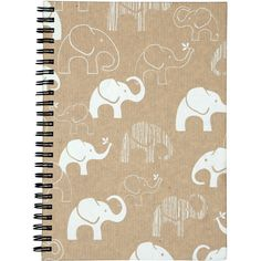 Enchanted Elephant Notebook found on Polyvore featuring home, home decor, stationery, accessories, desk, extra, filler and notebooks
