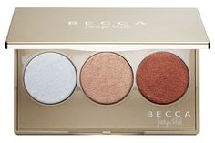 Becca Champagne Glow Palette A Sephora-exclusive, curated palette of three limited-edition Shimmering Skin Perfector Pressed shades—new Pearl, Blushed Copp