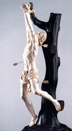 Adam Lenckhardt, St Sebastian, after 1642. Ivory. Liechtenstein Museum, Vienna