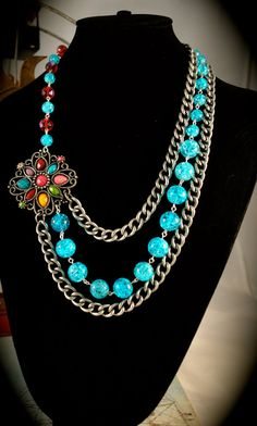 Gypsy Carnival Multistrand Necklace by freedomdivine on Etsy, $56.00