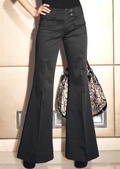 Stretchhose / Hose von Laura Scott  in schwarz Größe 34