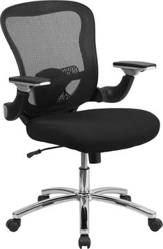 flash furniture lfw952gg high back mesh office chair with fabric