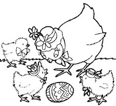 EASTER COLOURING: EASTER CHICKS COLOURING
