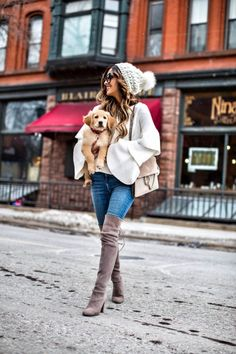 City Guide: Winter In The Twin Cities - Shopbop Sweater // Similar White Beanie // Asos Jeans // Stuart Weitzman 'Highland' Over-The-Knee Boots // Chloe Medium 'Faye' Bag // Celine Sunglasses January 10th, 2017 by maria